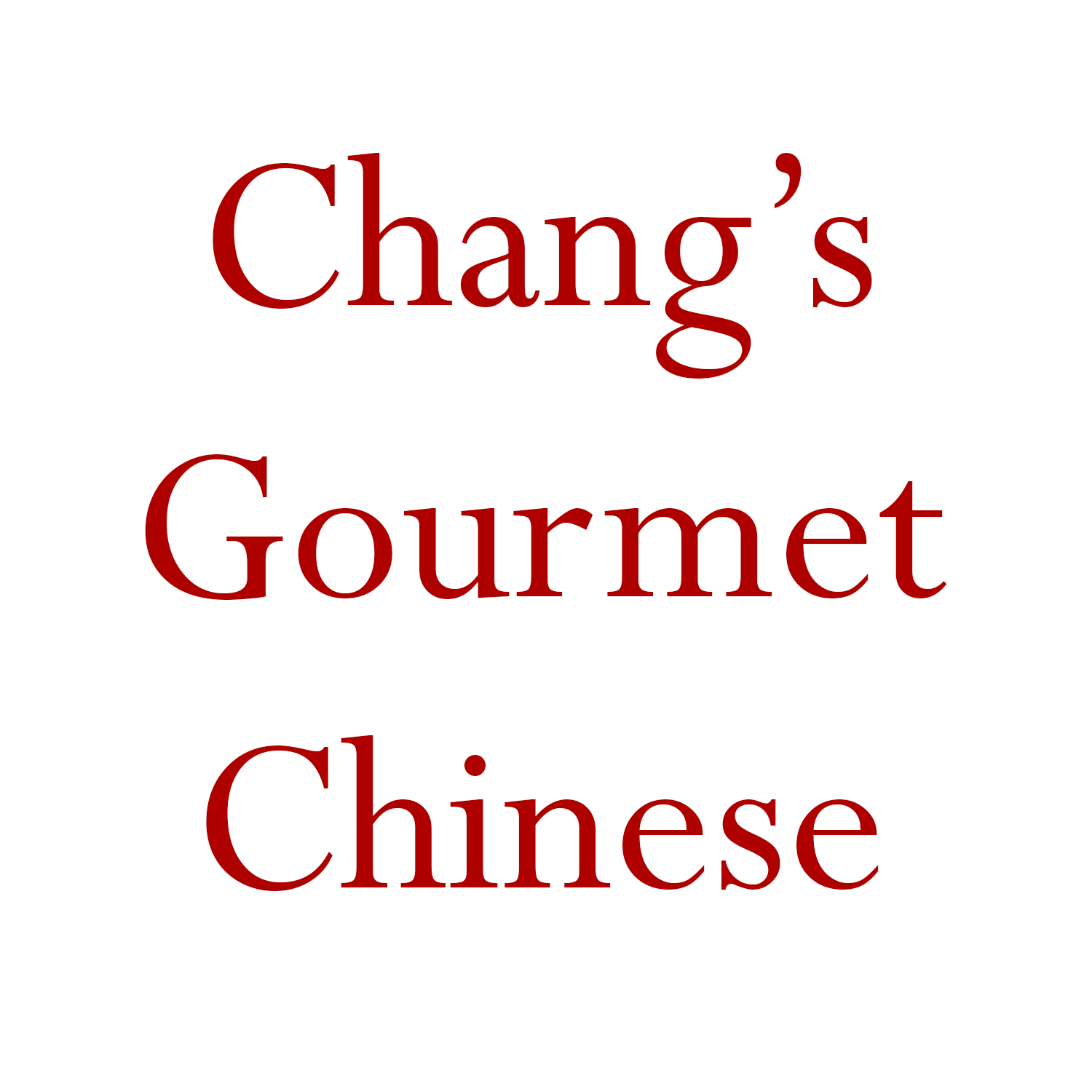 Changs Gourmet Chinese